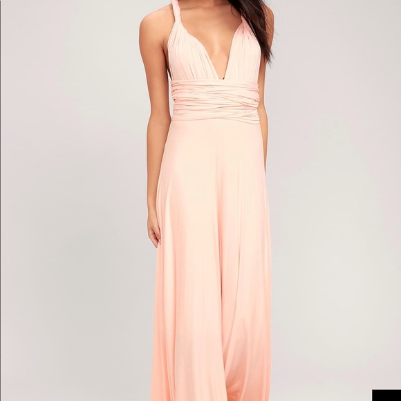 f712826a118a2 Lulu's Dresses | Tricks Of The Trade Blush Pink Maxi Dress | Poshmark